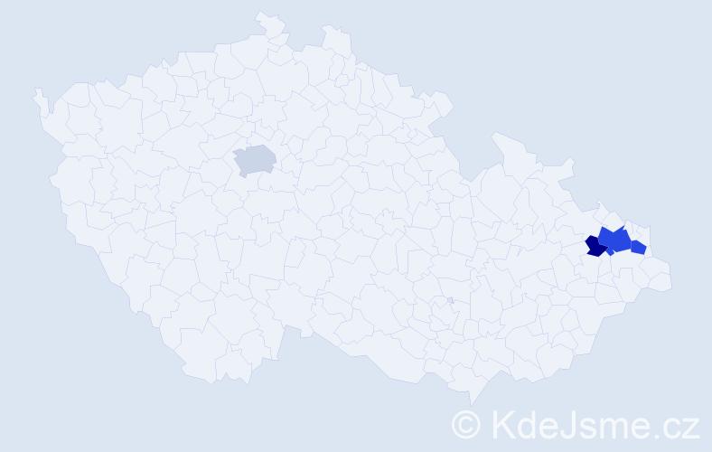 Příjmení: 'Halotová', počet výskytů 10 v celé ČR