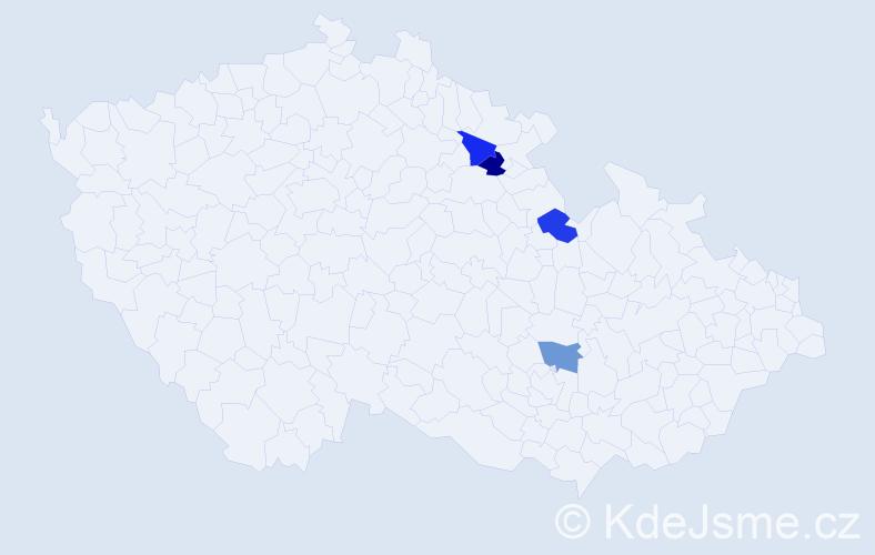 Příjmení: 'Leisková', počet výskytů 4 v celé ČR