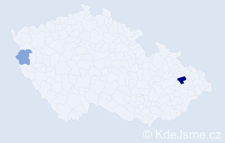 Příjmení: 'Dorotová', počet výskytů 3 v celé ČR