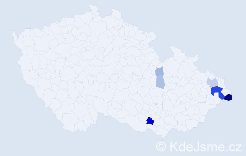 Příjmení: 'Boščíková', počet výskytů 31 v celé ČR
