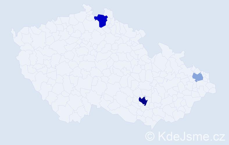 Příjmení: 'Harničár', počet výskytů 8 v celé ČR