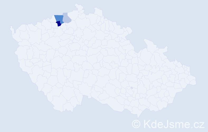 Příjmení: 'Lachnerová', počet výskytů 7 v celé ČR