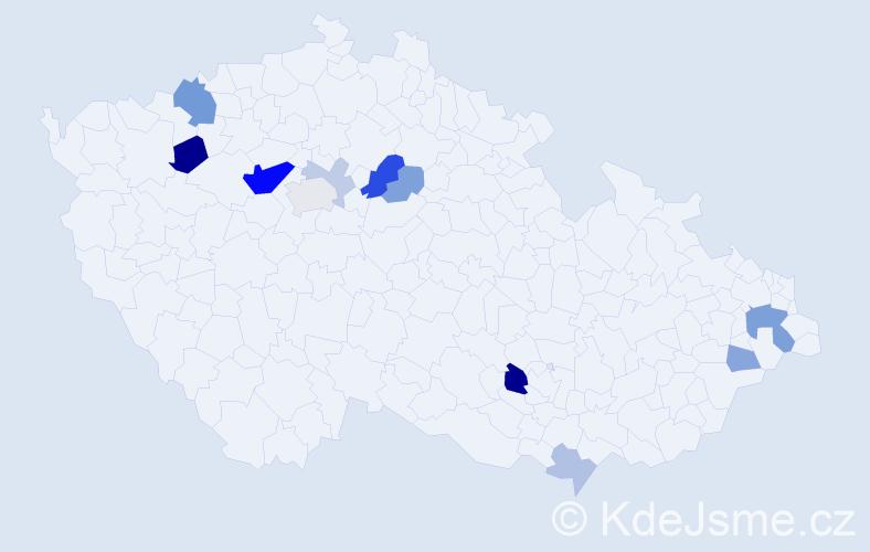 Příjmení: 'Ďurčanský', počet výskytů 29 v celé ČR