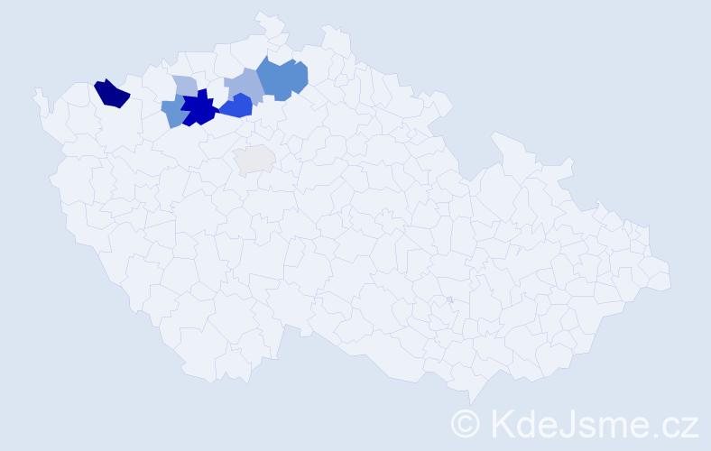 Příjmení: 'Ikráth', počet výskytů 16 v celé ČR