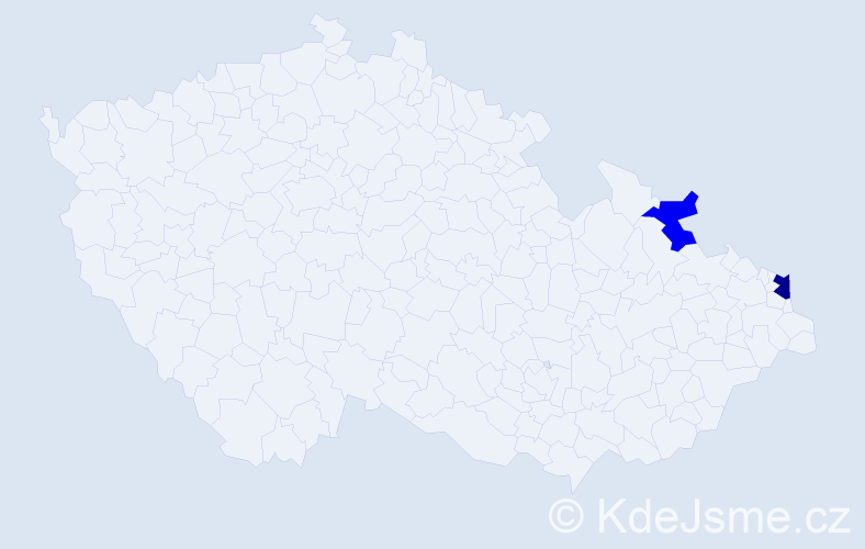 Příjmení: 'Antalovičová', počet výskytů 3 v celé ČR