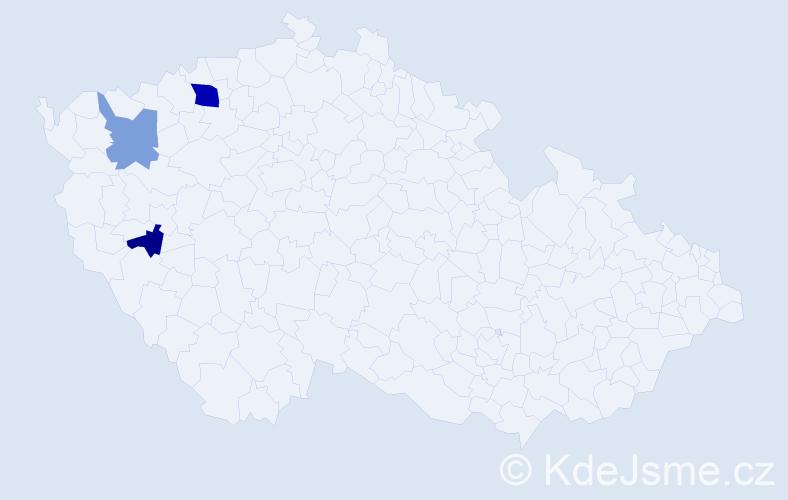 Příjmení: 'Horínek', počet výskytů 5 v celé ČR