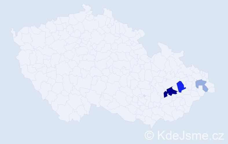 Příjmení: 'Kobert', počet výskytů 14 v celé ČR