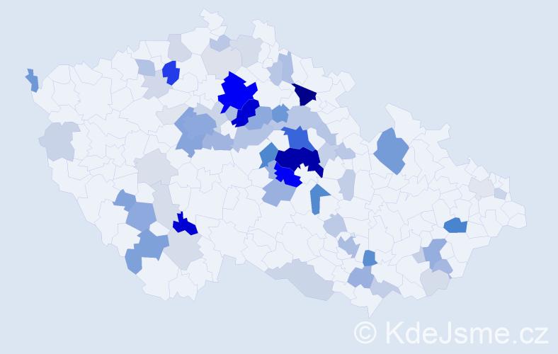 Příjmení: 'Heřmanská', počet výskytů 257 v celé ČR