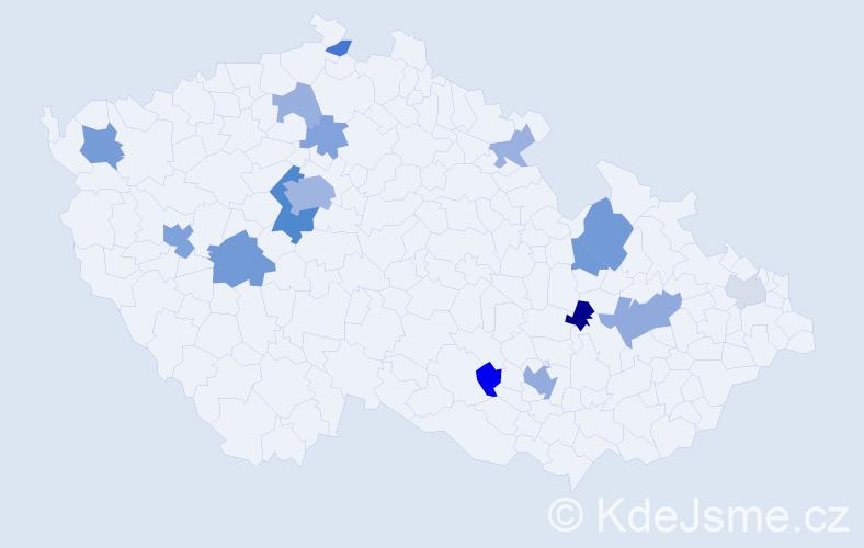 Příjmení: 'Lauermann', počet výskytů 37 v celé ČR