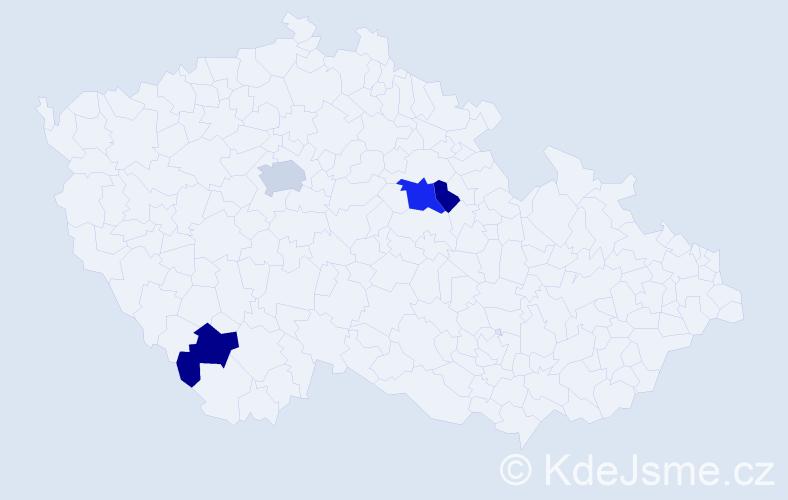 Příjmení: 'Jantovská', počet výskytů 10 v celé ČR