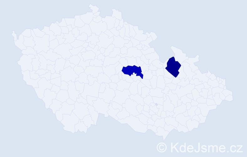 Příjmení: 'Diller', počet výskytů 2 v celé ČR