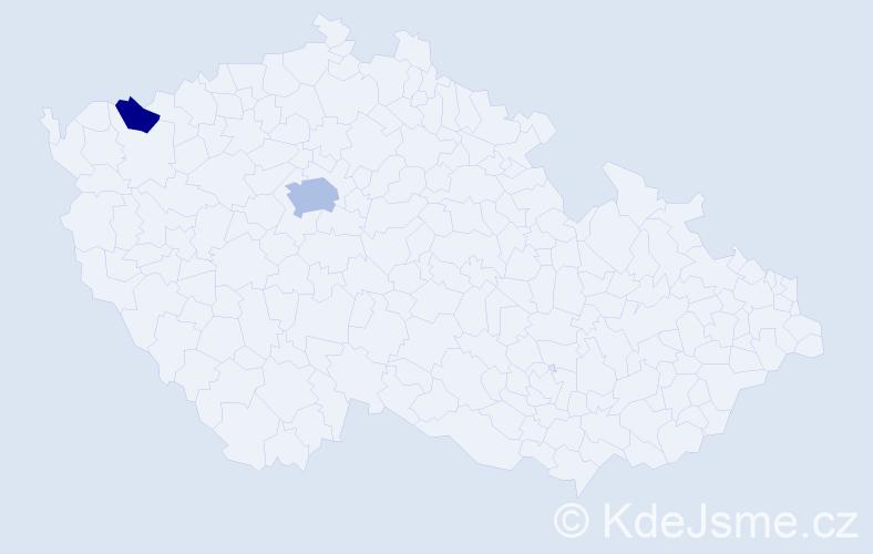 Příjmení: 'Dimovski', počet výskytů 4 v celé ČR