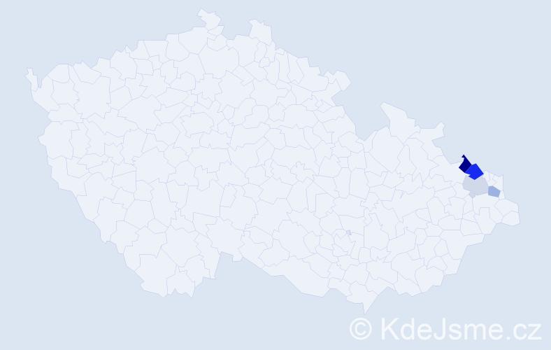 Příjmení: 'Čujková', počet výskytů 11 v celé ČR