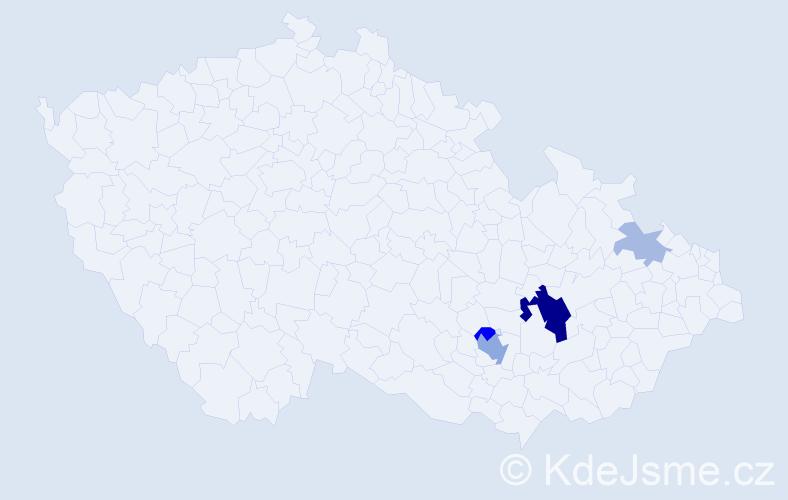 Příjmení: 'Grydilová', počet výskytů 37 v celé ČR
