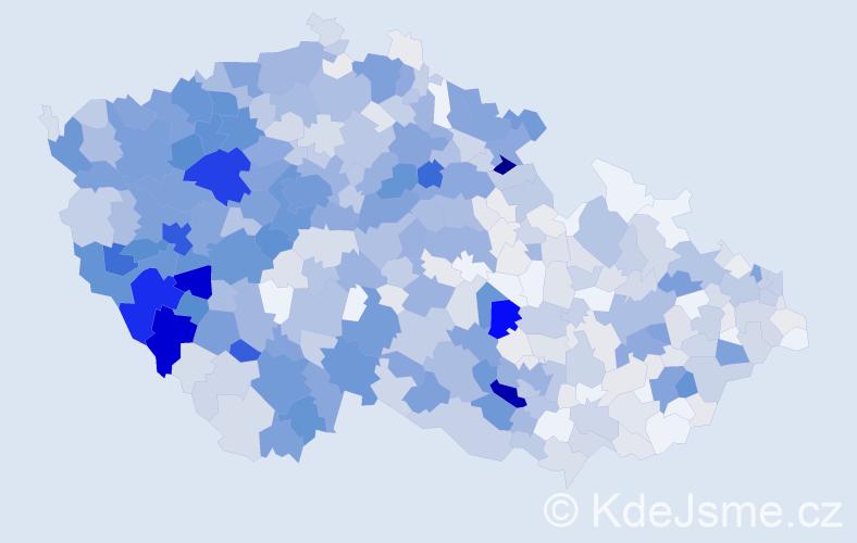 Příjmení: 'Holý', počet výskytů 3373 v celé ČR