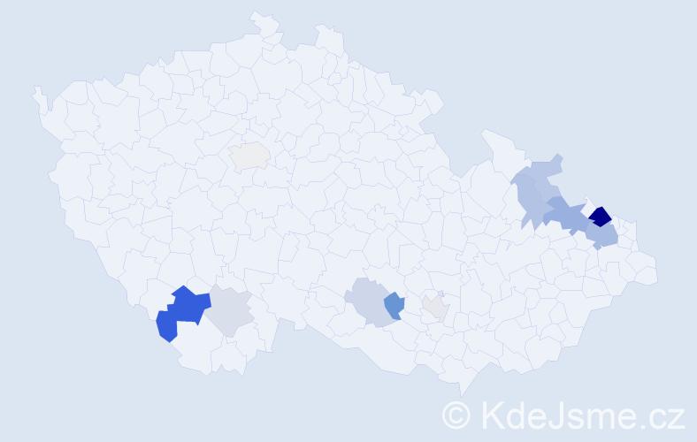 Příjmení: 'Lainková', počet výskytů 28 v celé ČR