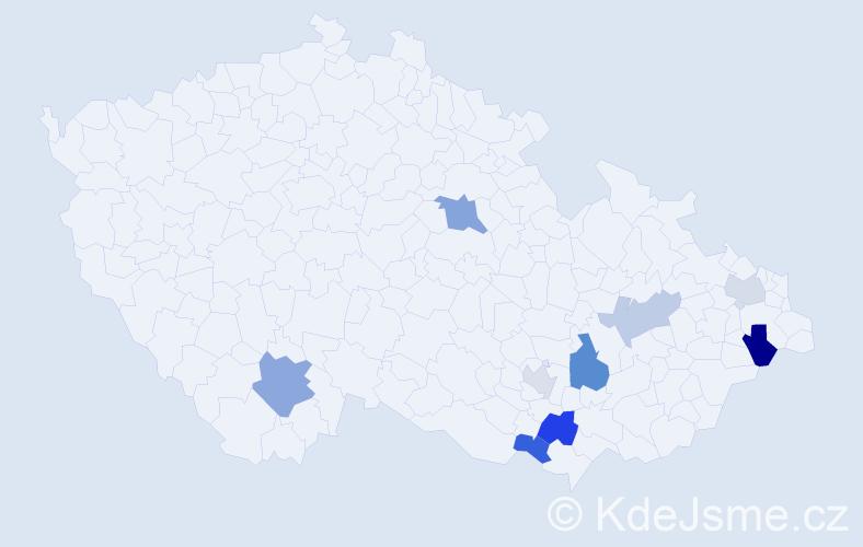 Příjmení: 'Führerová', počet výskytů 14 v celé ČR