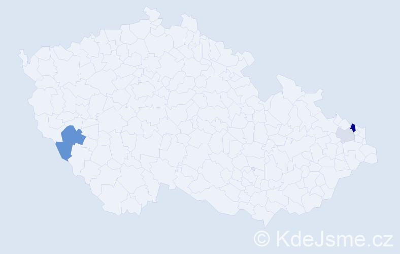 Příjmení: 'Gaboríková', počet výskytů 6 v celé ČR