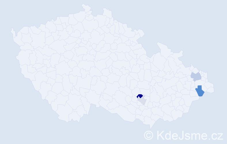 Příjmení: 'Jankulovski', počet výskytů 6 v celé ČR