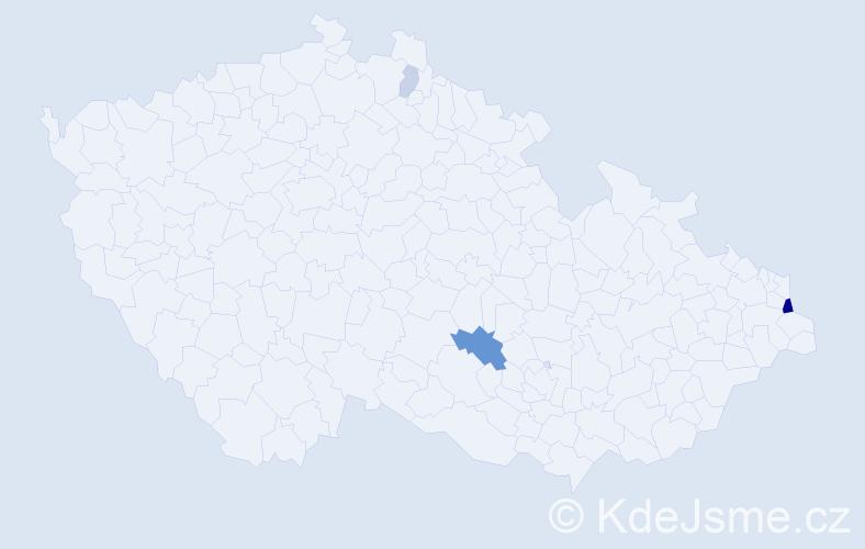 Příjmení: 'Chloň', počet výskytů 10 v celé ČR