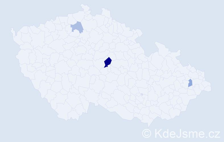 Příjmení: 'Fečáková', počet výskytů 5 v celé ČR