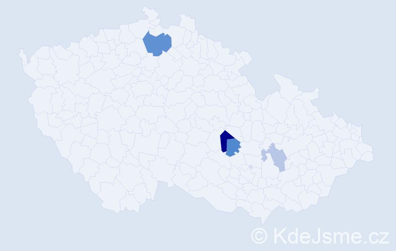 Příjmení: 'Iwachov', počet výskytů 7 v celé ČR