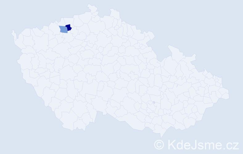 Příjmení: 'Lenartovičová', počet výskytů 2 v celé ČR