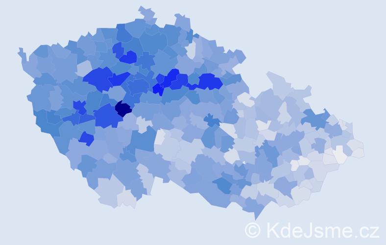 Příjmení: 'Černý', počet výskytů 17735 v celé ČR
