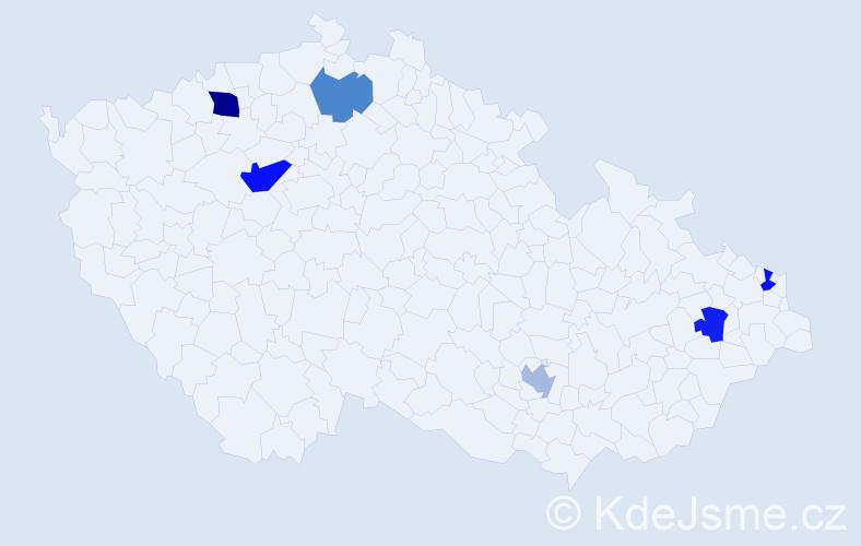 Příjmení: 'Chrapko', počet výskytů 8 v celé ČR