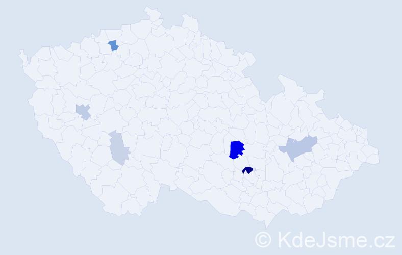Příjmení: 'Didyková', počet výskytů 18 v celé ČR