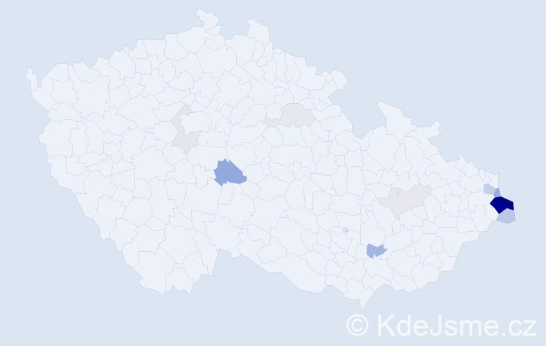 Příjmení: 'Jadamus', počet výskytů 34 v celé ČR