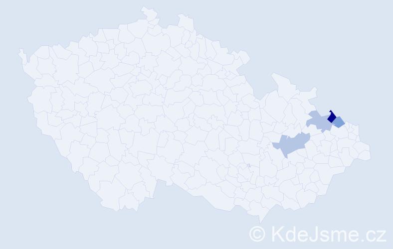 Příjmení: 'Hoheisel', počet výskytů 16 v celé ČR