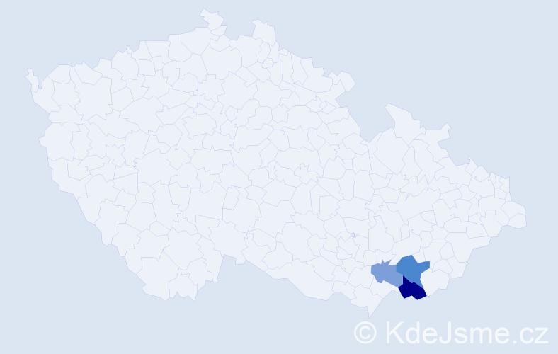 Příjmení: 'Leskovanová', počet výskytů 12 v celé ČR