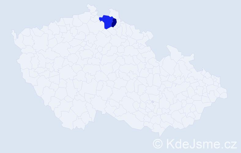 Příjmení: 'Duschka', počet výskytů 7 v celé ČR