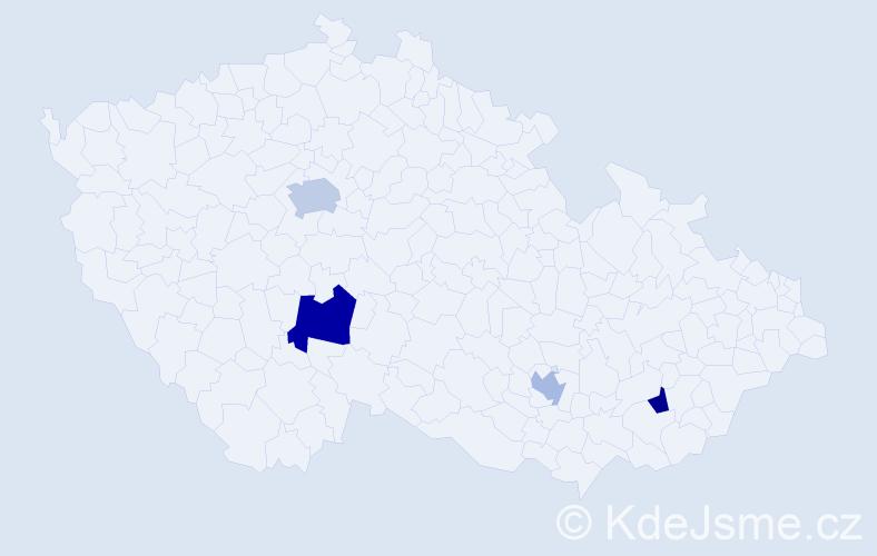 Příjmení: 'Jakubowiczová', počet výskytů 6 v celé ČR