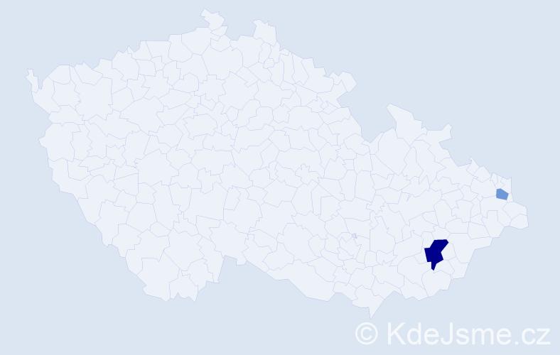 Příjmení: 'Leoni', počet výskytů 4 v celé ČR