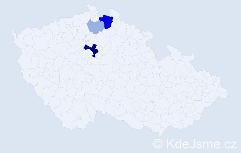 Příjmení: 'Dozorec', počet výskytů 14 v celé ČR