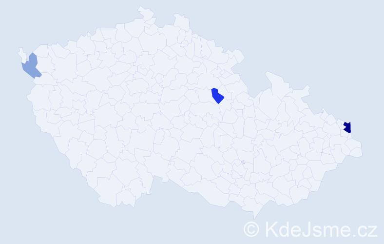 Příjmení: 'Izaiaszová', počet výskytů 8 v celé ČR
