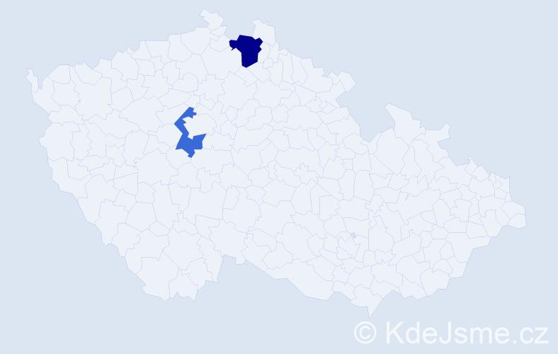 Příjmení: 'Elefteriadis', počet výskytů 3 v celé ČR