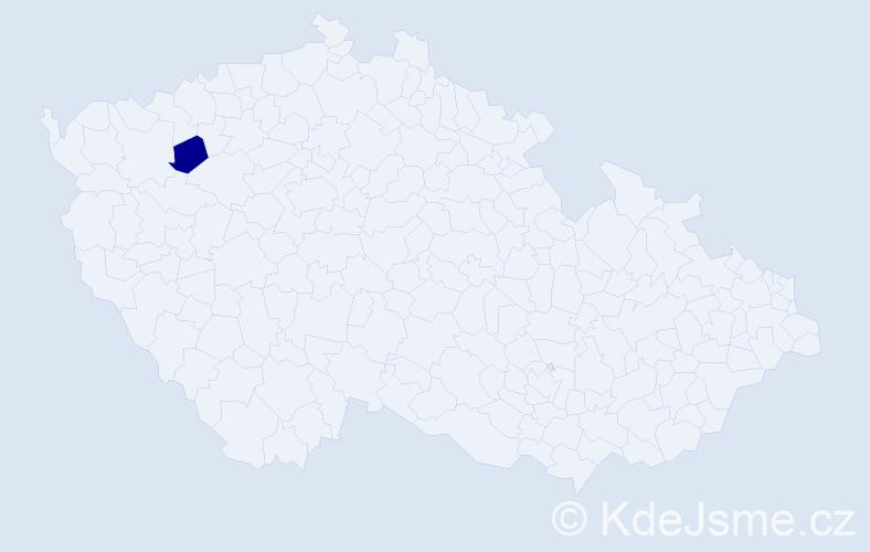 """Příjmení: '""""Hájková Zdvihalová""""', počet výskytů 1 v celé ČR"""