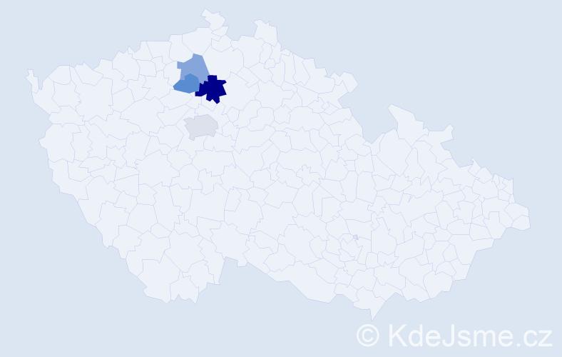 Příjmení: 'Černich', počet výskytů 7 v celé ČR