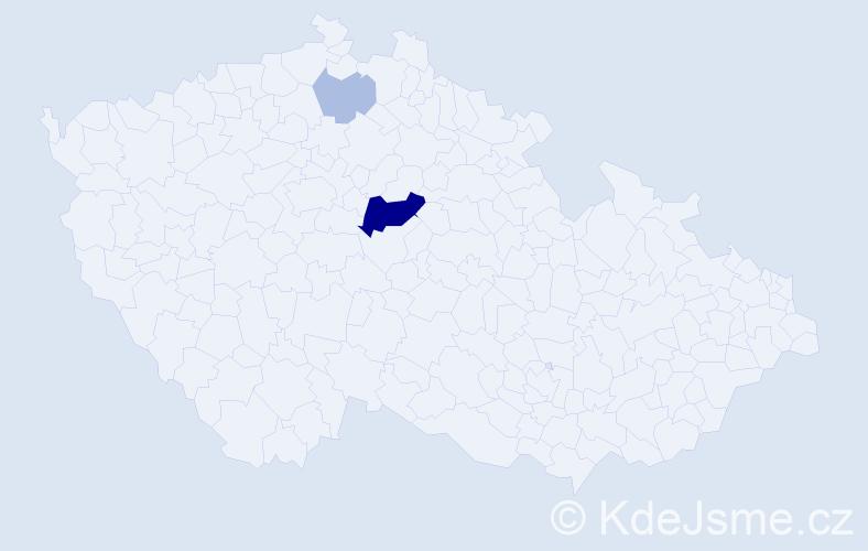 Příjmení: 'Krumich', počet výskytů 8 v celé ČR