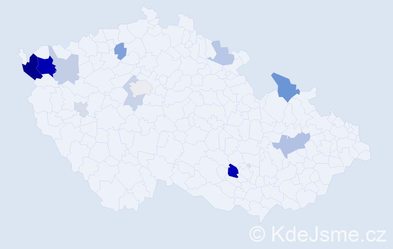 Příjmení: 'Eschler', počet výskytů 29 v celé ČR