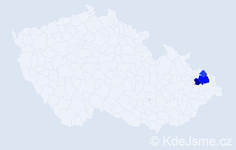 Příjmení: 'Gwuzdiochová', počet výskytů 8 v celé ČR