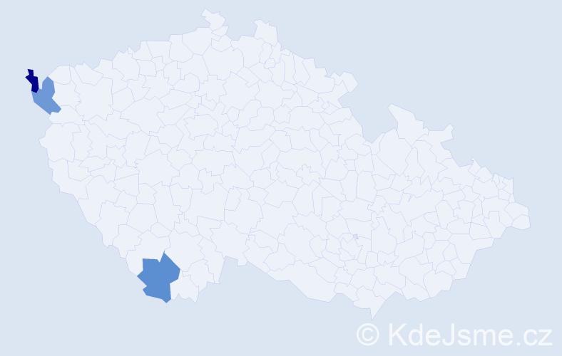 Příjmení: 'Gris', počet výskytů 6 v celé ČR