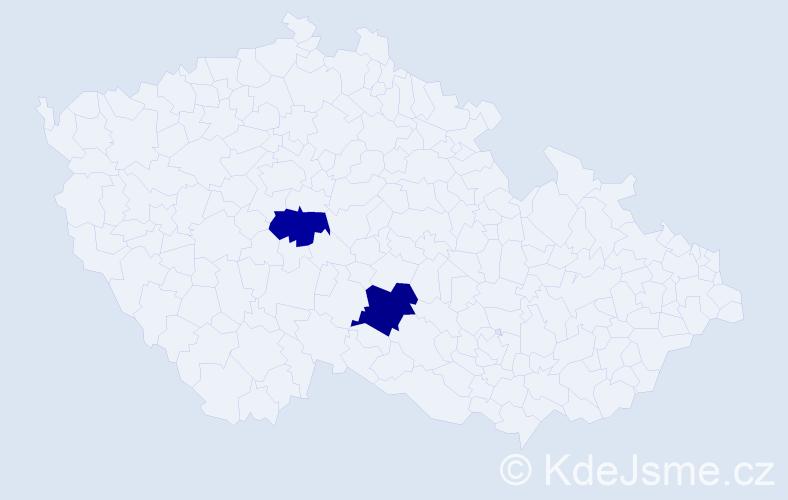 Příjmení: 'Abdelsalam', počet výskytů 5 v celé ČR