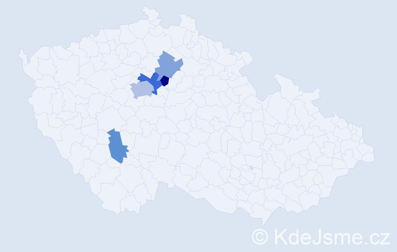 Příjmení: 'Bucman', počet výskytů 9 v celé ČR