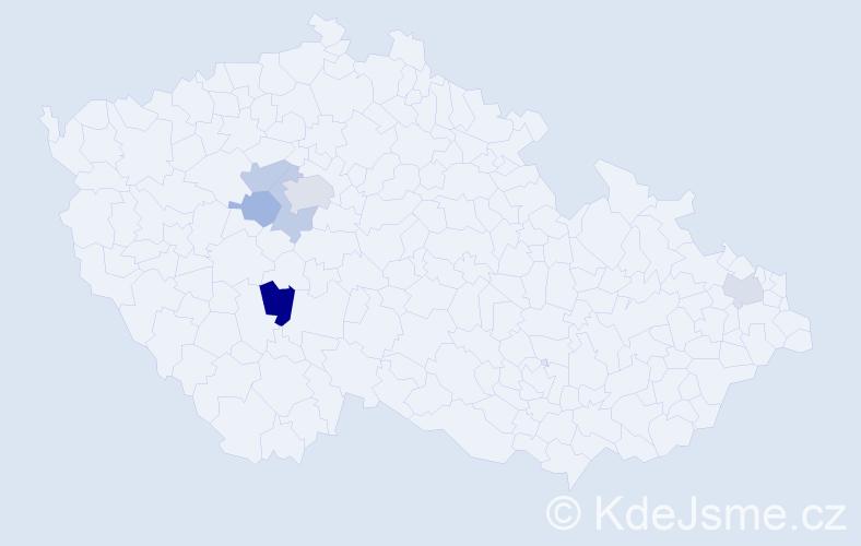 Příjmení: 'Drahuský', počet výskytů 9 v celé ČR