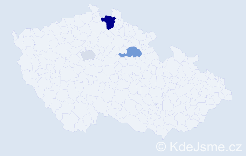 Příjmení: 'Dimtrová', počet výskytů 5 v celé ČR