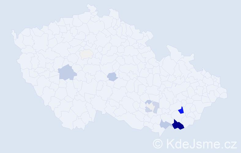 Příjmení: 'Čambala', počet výskytů 42 v celé ČR